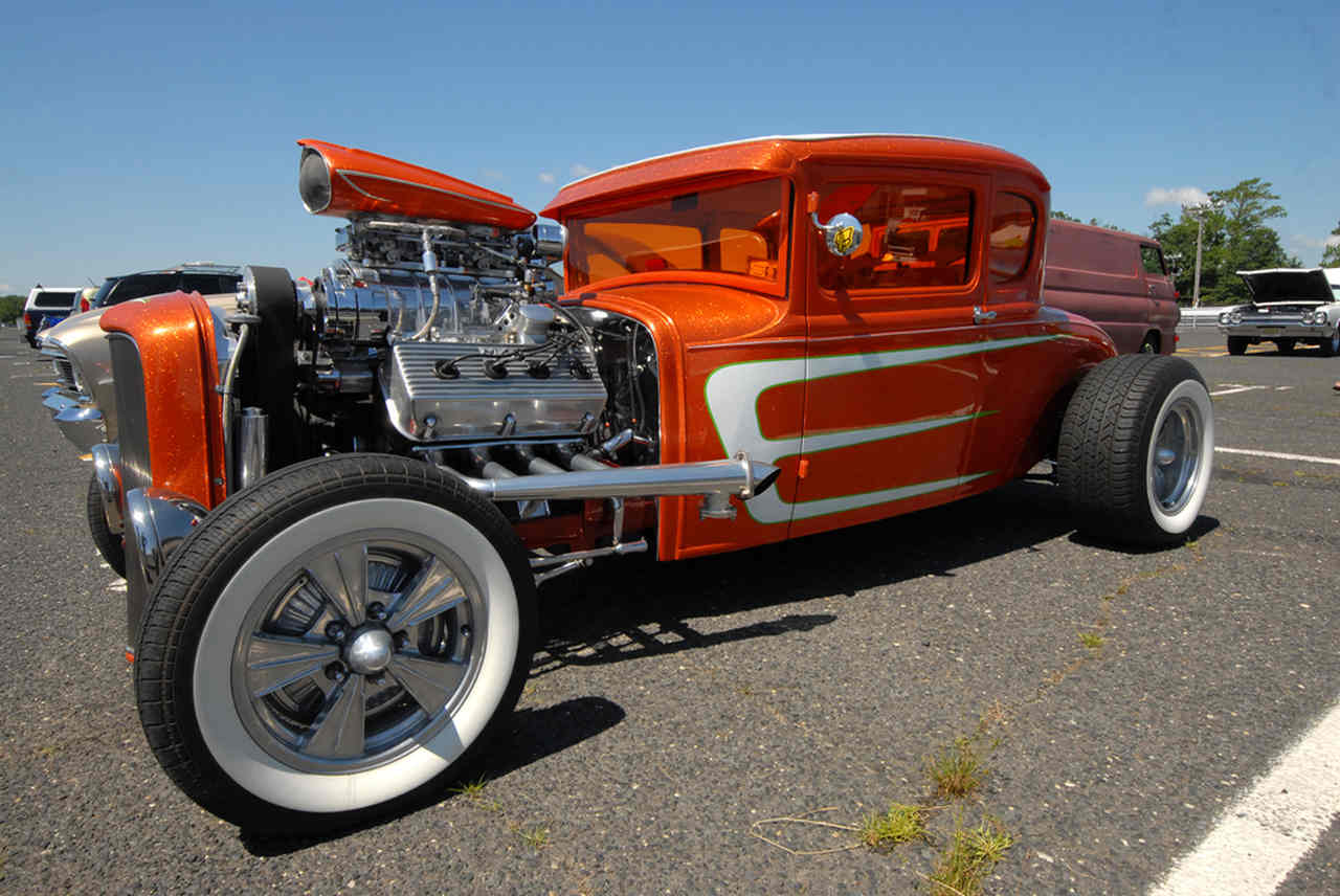 A Hot Rod modification, very popular in the United States.